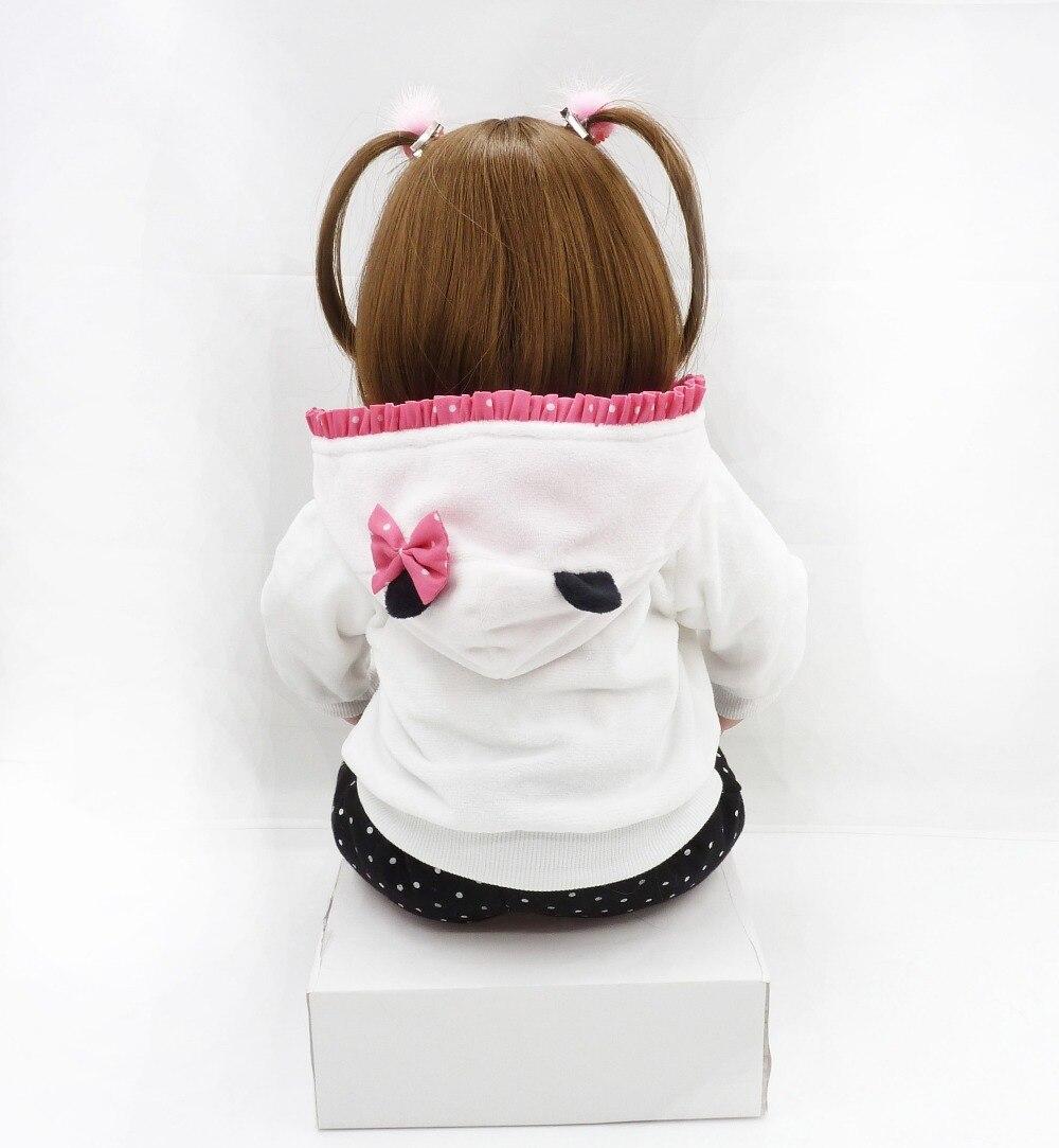 NPKCOLLECTION nuevo 58 cm Silicona Reborn Boneca Realista Moda Bebé - Muñecas y accesorios - foto 6