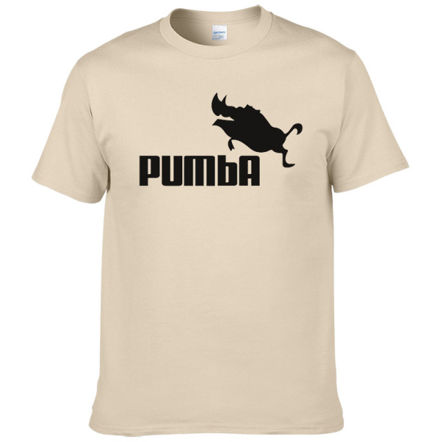 2016 funny tee cute t shirts homme Pumba men short sleeves cotton tops cool tshirt summer jersey costume t-shirt #062 3