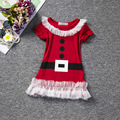 2016 New year Girls Clothes princess dress Christmas short sleeve Lace casual dresses kids baby girls clothes vestido infantil
