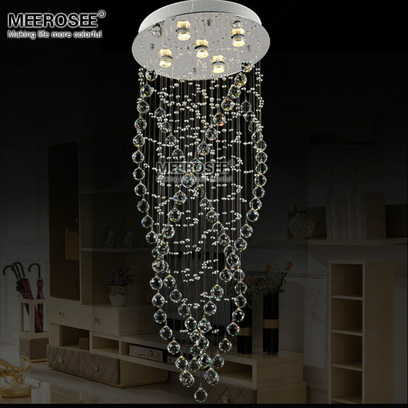 Lights & Lighting Smart Modern Crystal Chandelier Led Lustres De Cristal Hanging Lamps For Living Room Hotel Lobby Long Spiral Crystal Suspension Lamps Good Reputation Over The World