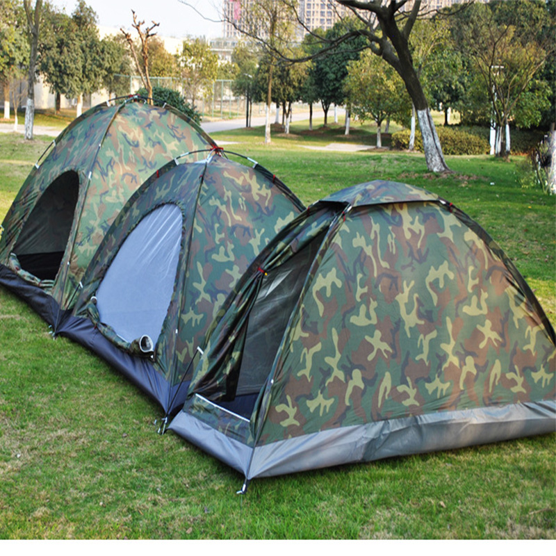 Image 4 - 1 4 Person Portable Outdoor Camping Camouflage Tent Outdoor Camping Recreation Double Couple Camping Tent Ultraviolet proof Tent-in Tents from Sports & Entertainment