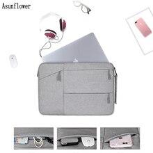 Portable Laptop Bag For Macbook Air Pro 11.6 12.5 13.3 14.1 15.4 15.6 Inch Women Men Sleeve XiaoMi PC Case Cover