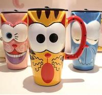 Cartoon Animal Mugs Handmade Painting Creative Ceramic Coffee Breakfast Milk Water Mug Porcelain Cup Home Drinkware Unique Gift