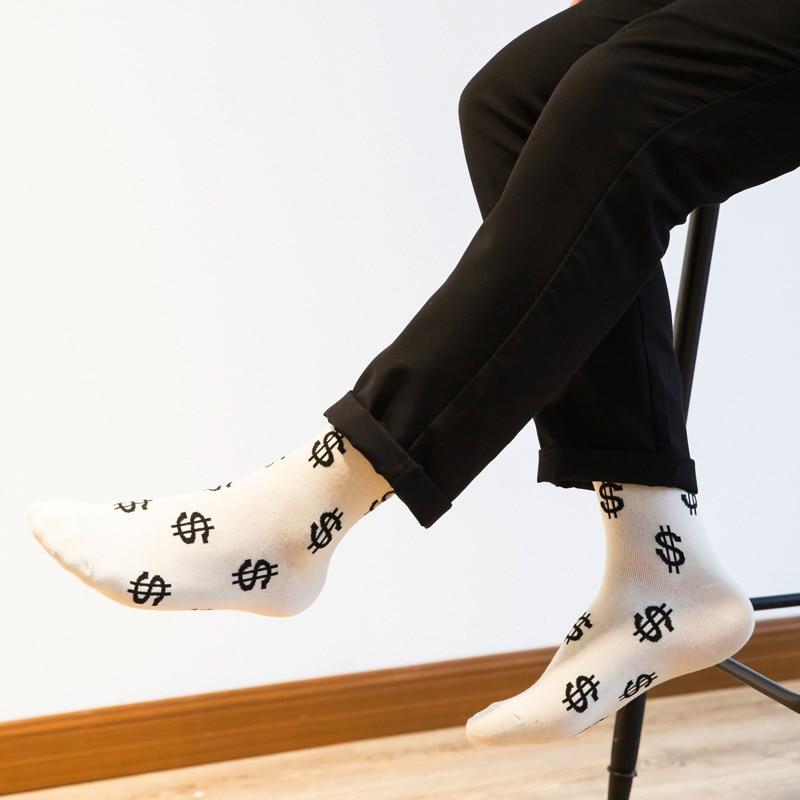 Design; 2019 Latest Design 1pair Fashion Men Cotton Breathable Funny Ankle Socks Causal Short Socks Print Man Chaussette Homme Mens Dress Novelty Art Sock Novel In