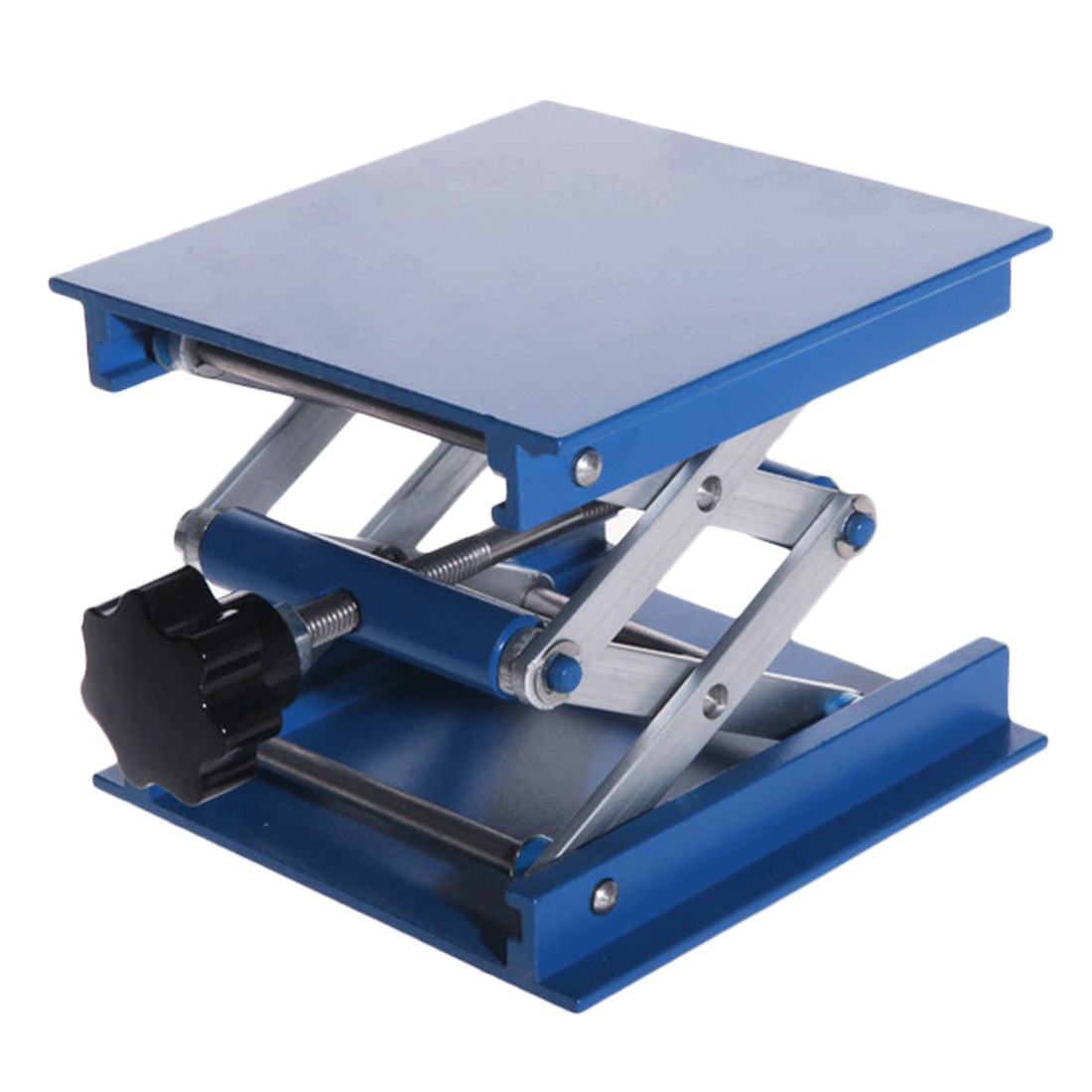 Adjustable 4X4'' Aluminum Oxide Laboratory Lab-Lift Lifting Platforms Lab Scissor Stand Rack 100X100X150mm