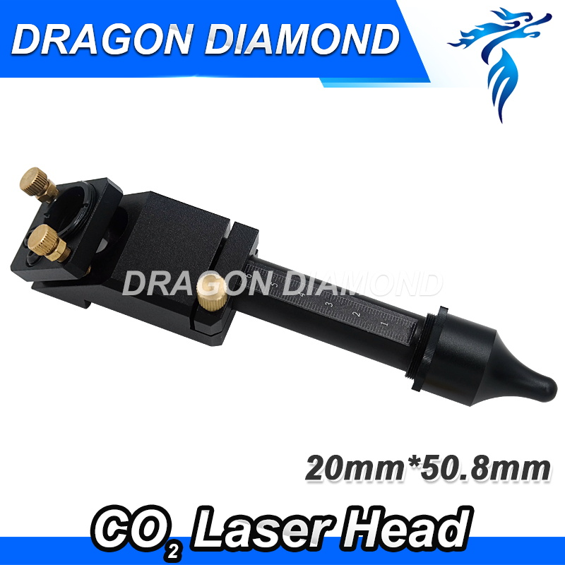 CO2 Laser Head for 20mm lens 25mm mirror for laser engraving and cutting machine