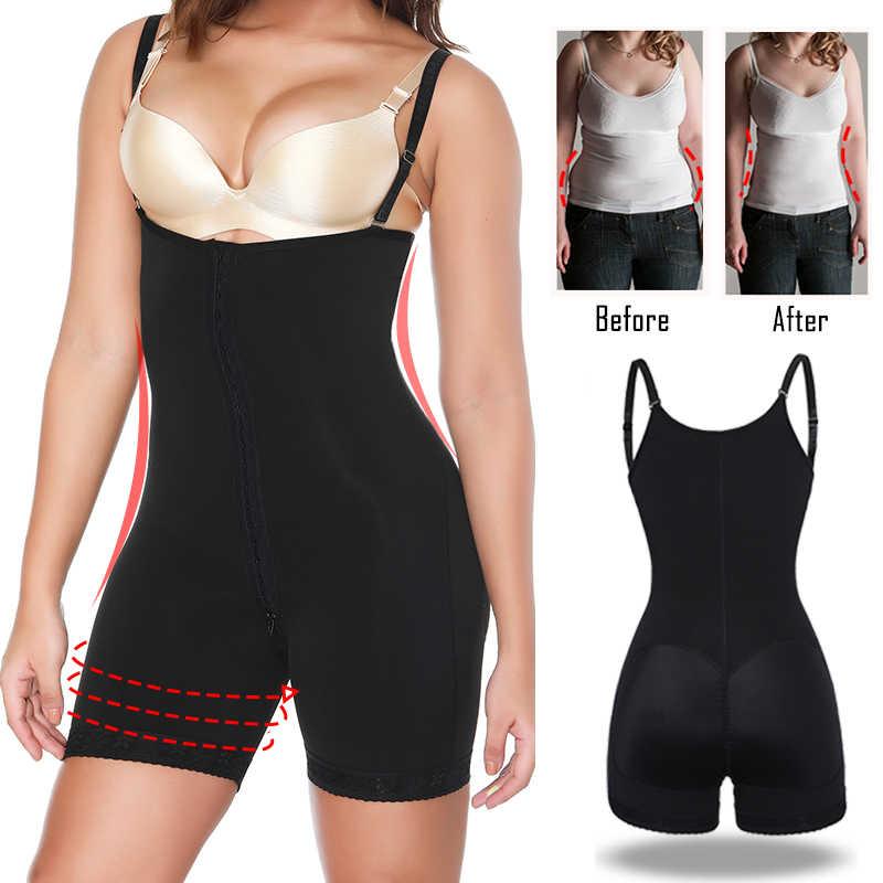 Women Fajas Colombianas Compression Full Body Shaper Slimming Shapewear Bodysuit