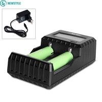 Carregador de bateria recarregável C2 3000 acessórios de iluminação portátil C2 3000 miboxer 2 canal para li ion ni mh imr icr|channel accessories|channel portable charger|channel chargers -