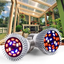 E27 Led Hydroponics Grow Light E14 Led Seedling Lamps 220V Full Spectrum Led phytolamps 18W 28W UV IR Bulb For Indoor Greenhouse 28w