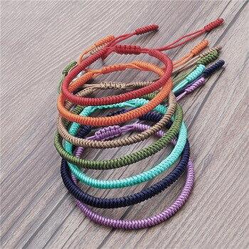 Bracelet Tibetain Tressé teinte foncée