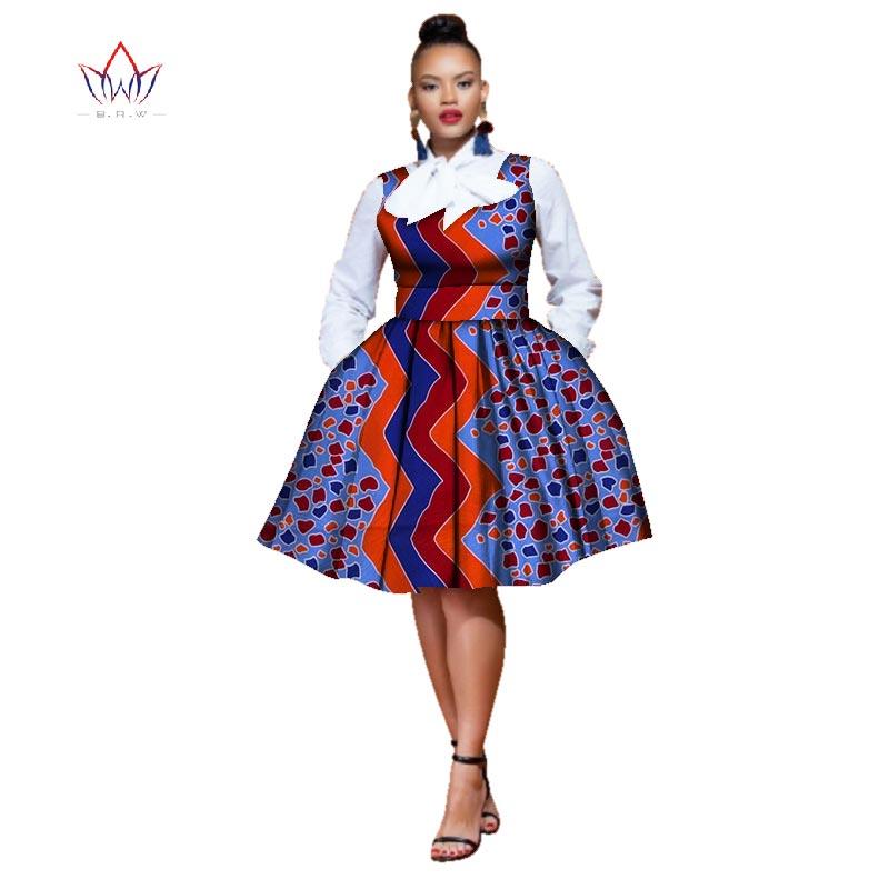 Robes africaines pour femmes Dashiki sans manches imprimé coton robe traditionnelle africaine tissu afrique robe pour femmes naturel WY2572