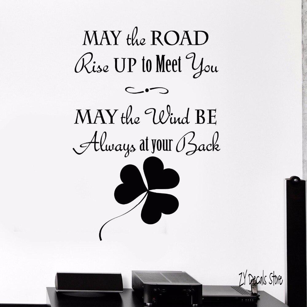 Старый ирландский Наклейки на стены благословение Ирландии Книги по искусству irisman Наклейки на стену украшения дома для Спальня Гостиная с...