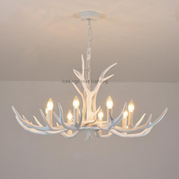 Modern white Resin Antler Chandelier Lighting Novelty Lustre for Dining Room Living Room Europe Avize Luminaire