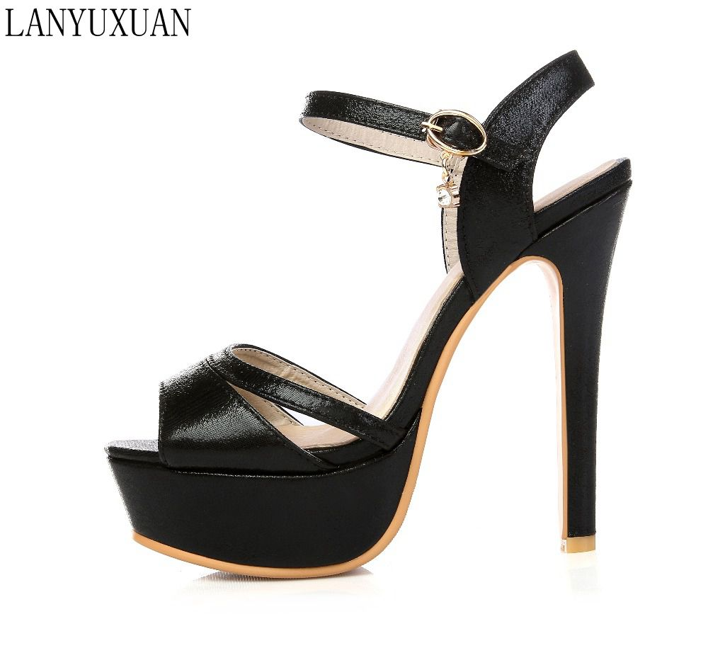 fashion Limited New Gladiator Sandals Women Sexy fashion Big Size 30-48 Lady Shoes Super High Heel Women Pumps shoes 431-5 lanyuxuan 2017 sandals wedding party women sexy fashion big size 31 48 lady shoes super high heel 16cm women pumps shoes 205