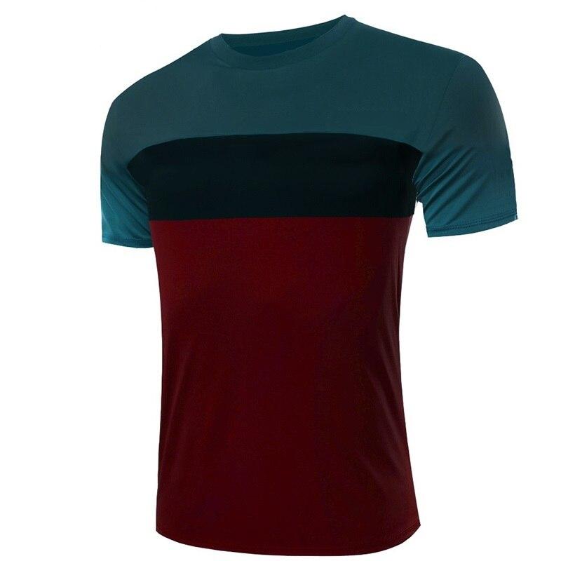 men 39 s t shirt brand clothing fashion patchwork t shirt