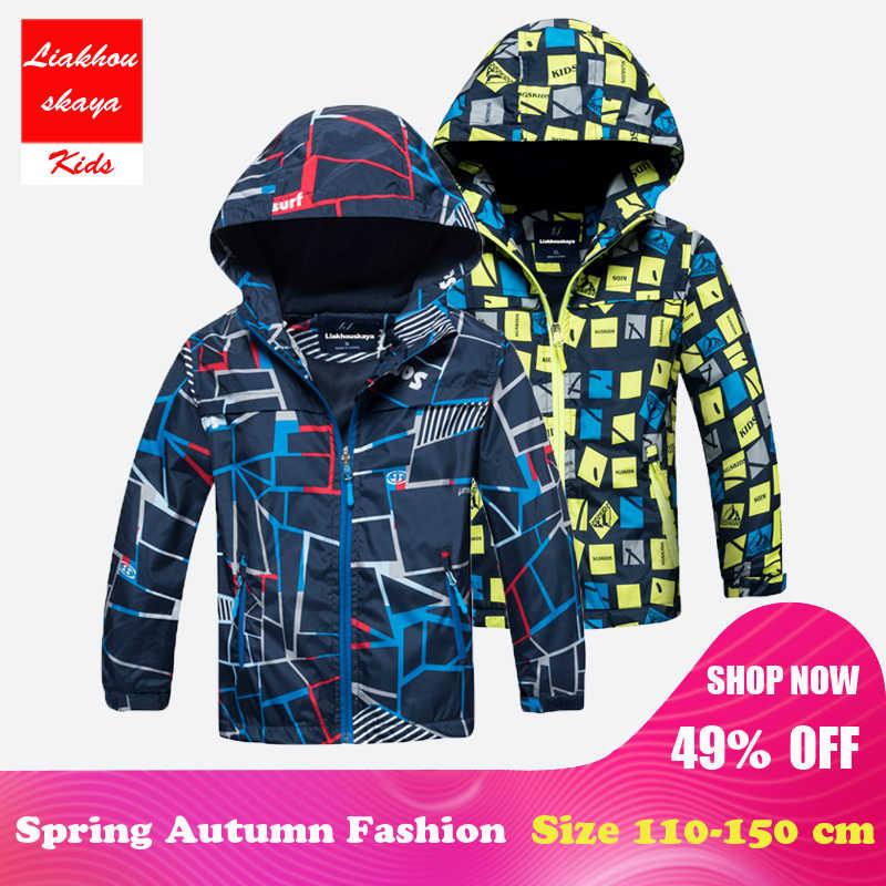 25f9269048f Liakhouskaya 2018 Детская куртка для мальчиков От 4 до 15 лет зима осень верхняя  одежда и
