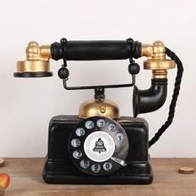 Винтажная статуя телефона старинная потертая старинная декоративная фигурка для дома KM88