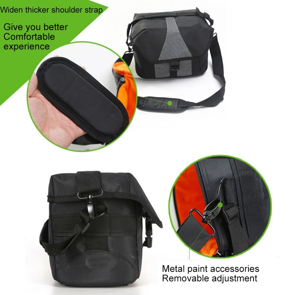 PULUZ DSLR Camera Bag Portable Waterproof Nylon Sports Sling Shoulder Bag Handheld DSLR Camera Bag Adjustable Shoulder Strap