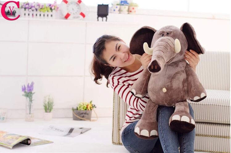new creative Plush elephant toy lovely Stuffed jungle elephant gift doll about 70cm 0211 stuffed animal 44 cm plush standing cow toy simulation dairy cattle doll great gift w501