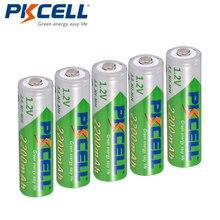 5 X батарейки PKCELL AA с низким саморазрядом прочный Ni MH 1,2 V 2200mAh AA Аккумуляторная батарея 2A батареи для дистанционного управления
