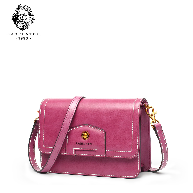 LAORENTOU Split Leather Women Crossbody Bags Fashion Shoulder Bag for Female Luxury Vintage Messenger Bag Valentine's Day gift