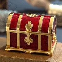 European retro M size Metal Crafts Jewelry Box Storage Jewelry Box storage case Treasure Chest jewelry box table organizer Z104