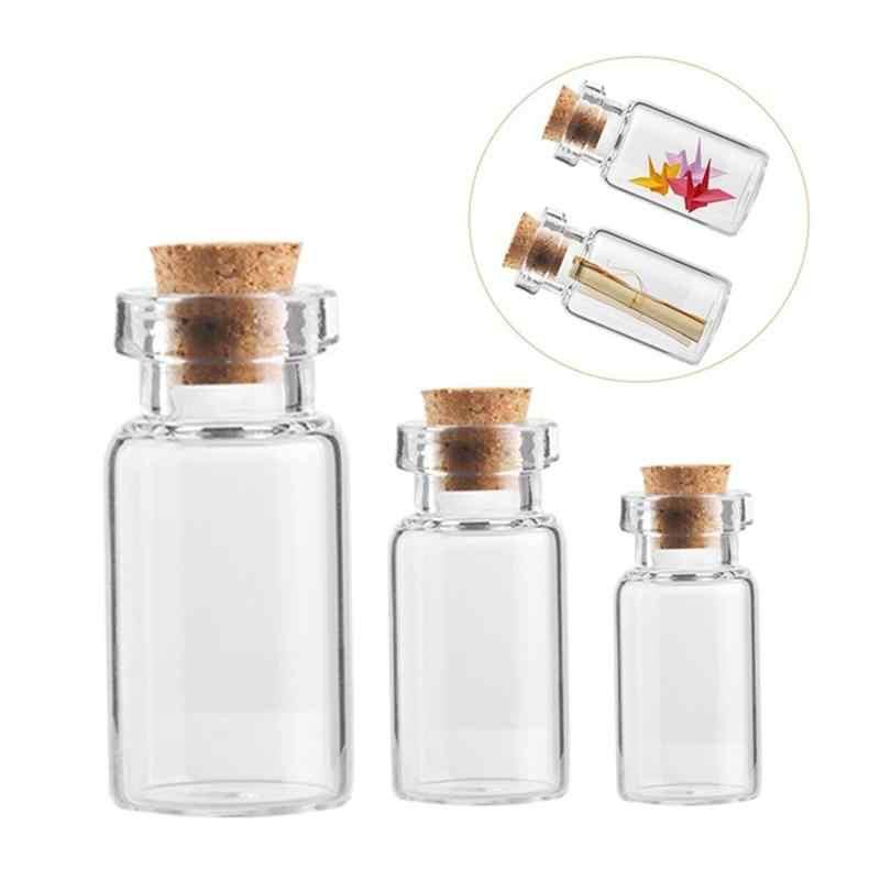 小瓶ガラス瓶 1pc デコレーション Diy 容器ミニ安いメッセージバイアル装飾品希望するコルクストッパーホット販売石工瓶