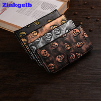 For IPhone 7 Case Luxury Accessories Retro Skull Leather Soft Silicone Back Flip Phone Case Cover