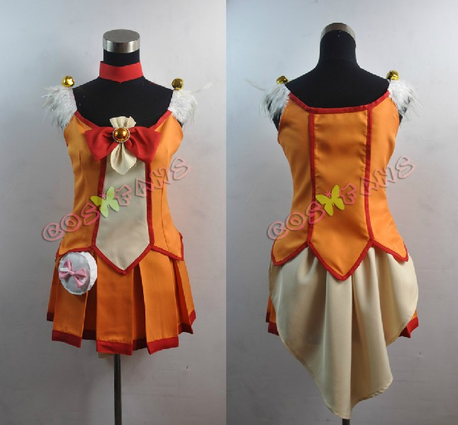 Free shipping Custom Cheap Orange Cure Sunny Cosplay Costume from Smile PreCure