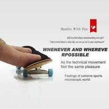 Professional Type Bearing Wheels Skid Pad Maple Wood Finger Skateboard