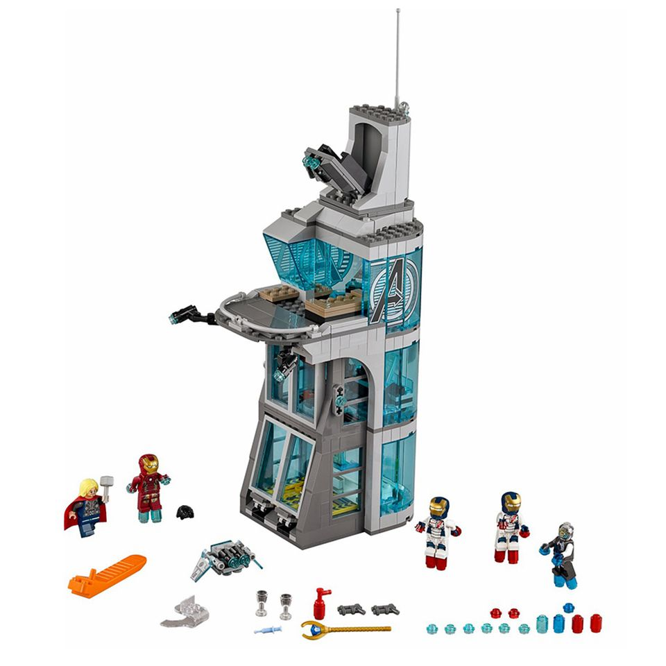 Marvel Super Heroes Attack on Avengers Tower Figures Blocks Iron Man Thor 511Pcs Legoing Building Toy For Kids