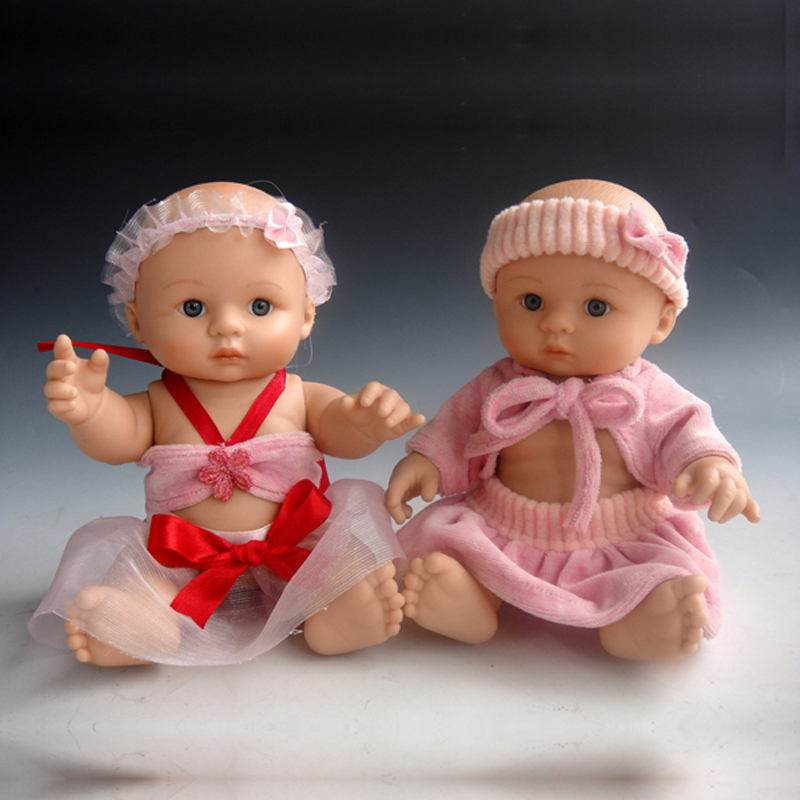 NPK COLLECTION 1 Piece Real Life Babies Reborn Doll For Boy Toys Realistic 25 cm New Born Baby Dolls Bebe Swimming Playmates