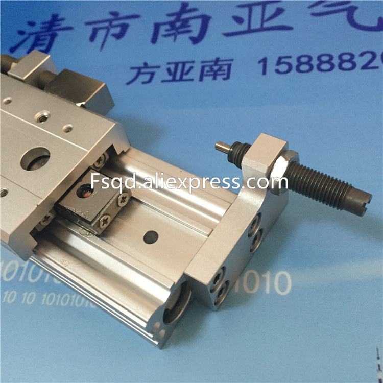 MXS12-10B MXS12-20B MXS12-30B MXS12-40B MXS12-50B MXS12-75B MXS12-100B SMC Slide guide cylinder Pneumatic components hlq25 10b 20b 30b 40b 50b airtac sliding table cylinder