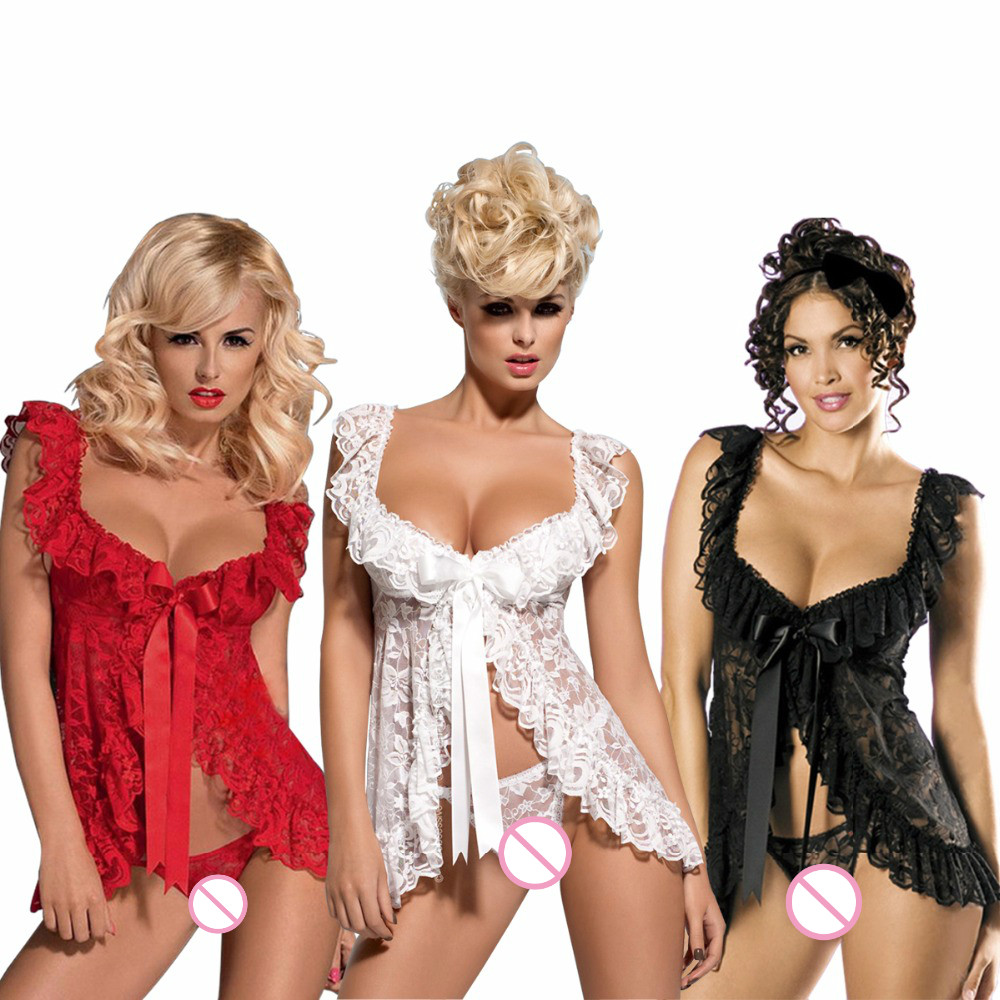 M L XL <font><b>XXL</b></font> 3XL 4XL 5XL 6XL Plus Size Lingerie New Brand Sexy Lingerie Hot Women Sleepwear <font><b>Sex</b></font> Dress Costume Babydoll Big Size image