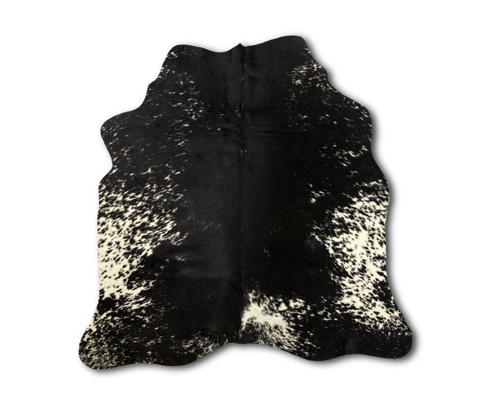 Tapis Zerimar en peau de vache naturelle | taille: 51x47 en 1.38 m² | tapis pour salon | tapis salon | tapis naturel