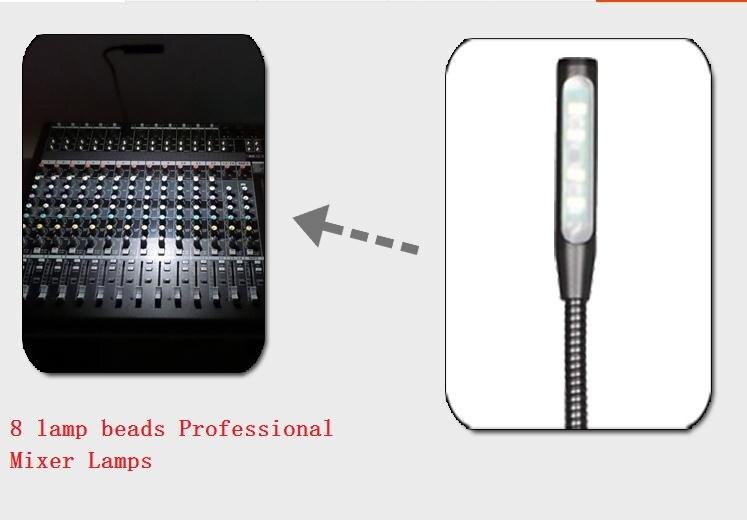 1pcs 8 lamp beads Mixer lamp Q9 BNC four three-pin pin Caron lighting console DJ lights dimming LED Work Light 8 6609107 9 filters beads and chips mr li