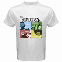 New The Boondocks Animated Cartoon TV Show Men S White T Shirt Size S To 3XL