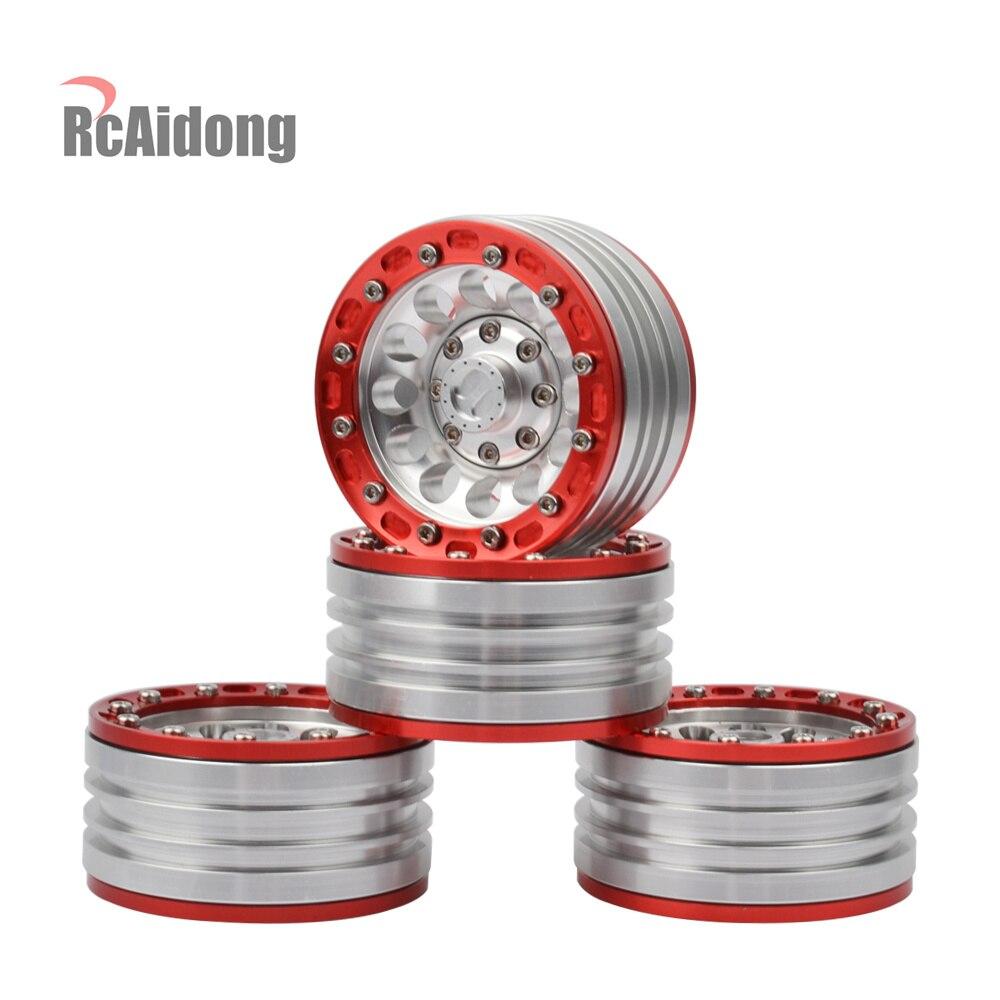 RC Crawler Aluminum 1 9 Beadlock Wheels Rims for 1 10 RC Crawler Traxxas TRX4 Axial
