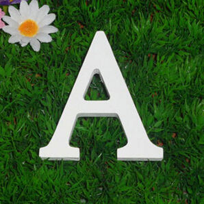 new 8cmX1cm Thick Wood Wooden Letters Sign White Alphabet Craft For Wedding Birthday Home Decor