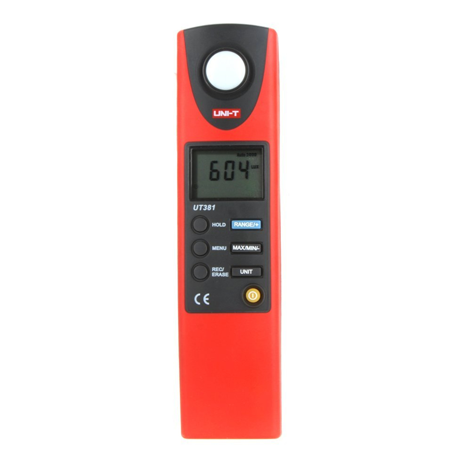 2017UNI-T UT381 Digital Professional Photometer Illuminance Measurement LCD Auto Range LUX/FC Luminometer Lux Meter UNI-T UT381 free shipping uni t c handeld lcd luminometer illuminometer lux meter tester