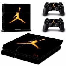 New Jordon Basketball Vinyl Sticker For Playstation 4 Console+2 controller Skin PS4