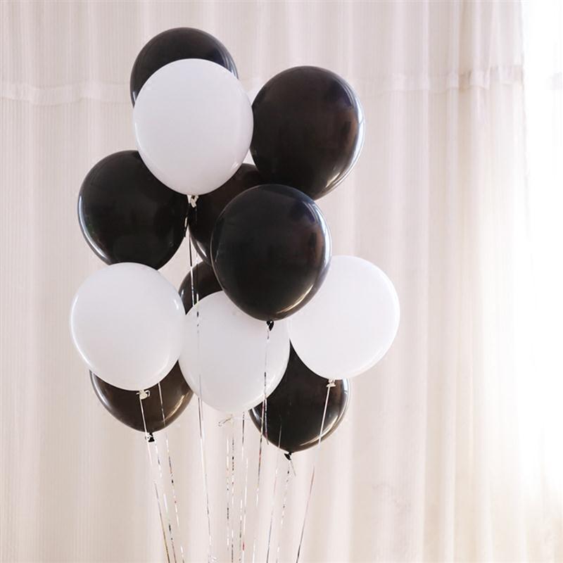 19 unids 12 pulgadas globo blanco negro 18 pulgadas Fútbol fiesta de ...