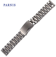 21mm Men Watch Watchbands Parnis Brand Full Stainless Steel Watch Strap Watch Accessories for Women's Ladies Watch