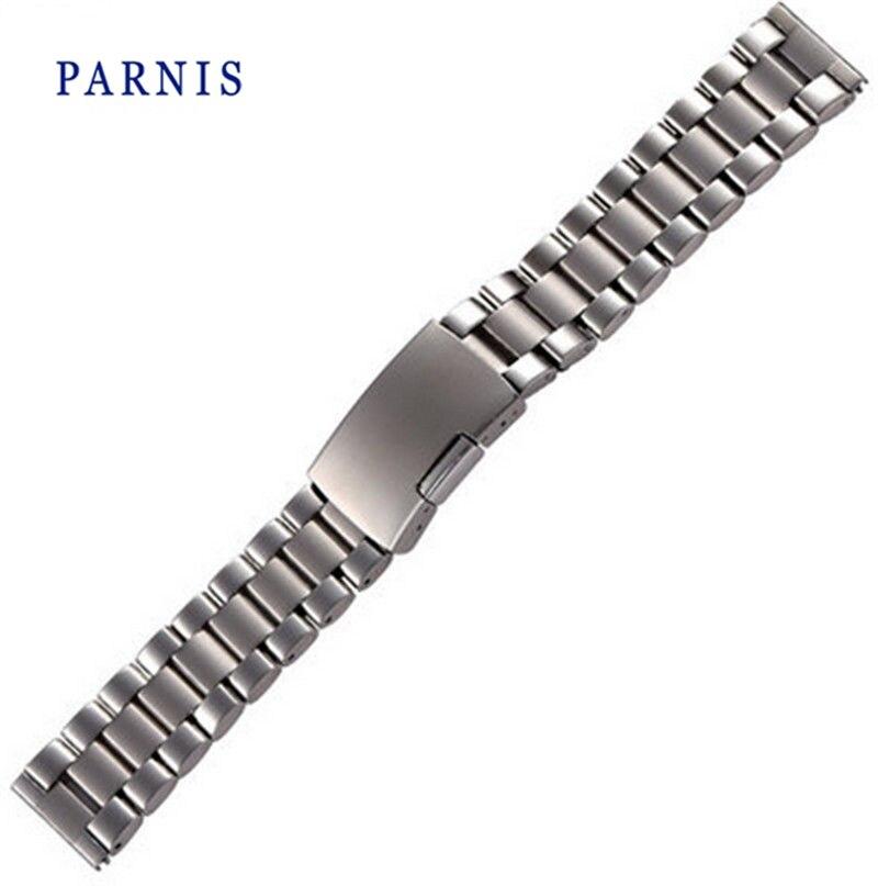 21mm hommes montre bracelets de montre Parnis marque pleine acier inoxydable montre bracelet montre accessoires pour femmes dames montre21mm hommes montre bracelets de montre Parnis marque pleine acier inoxydable montre bracelet montre accessoires pour femmes dames montre