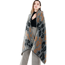 Women Leopard Camouflage Pattern Fashion Luxury Blanket Scarves Fall Winter Thick Warm Soft Tassel Cashmere Shawl For Ladies