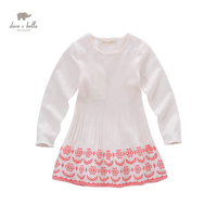 DK0623 Dave Bella Spring Autumn Girls Princess Cute Boutique Dress