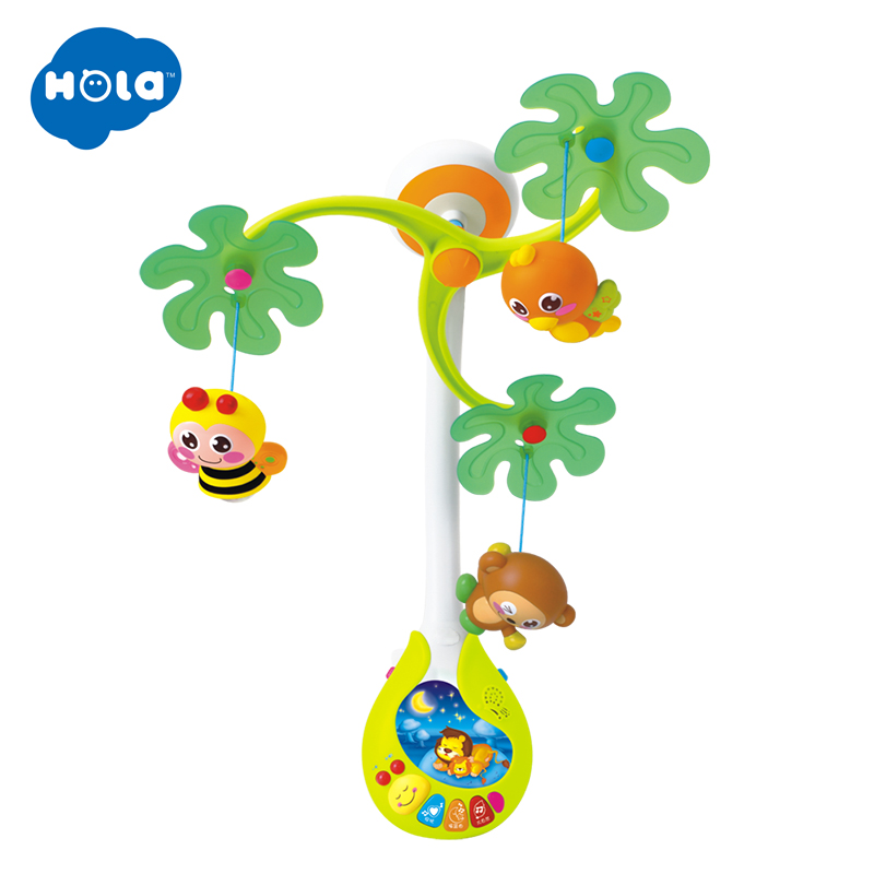 Baby Rotate Musical Jungle Baby Mobile Nursery Cot/Crib Mobile Multi Function With Lights & Music Box Children Play Cartoon Toy