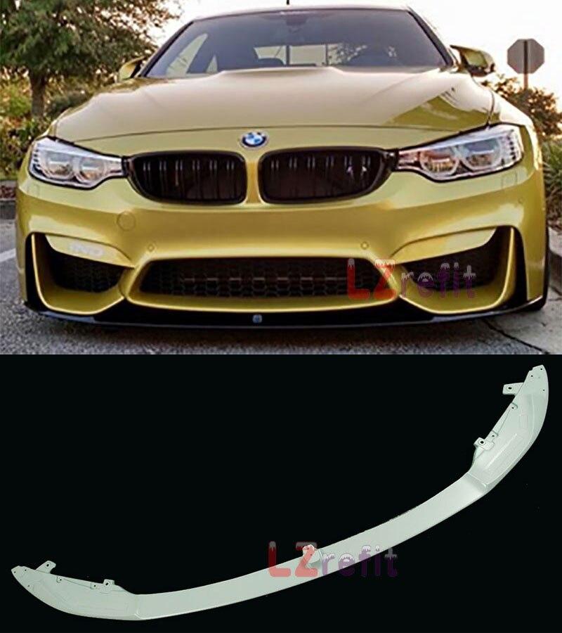 UNPAINTED M P Stye Real Carbon Fiber Front Lip Spoiler For F80 F82 F83 M3 M4 Bumper 2014UP