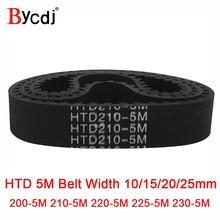 Arc HTD 5M Timing belt C=200/210/220/225/230 width10/15/20/25mm Teeth40 42 44 45 46 synchronous Belt200-5M210-5M220/225-5M 230-5