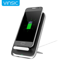 Vinsic W6 Intellective 3 Coils Wireless Charger for Samsung Galaxy S7 S7 Edge S6 S6 Edge Note 5 and Other Qi Enabled Devices